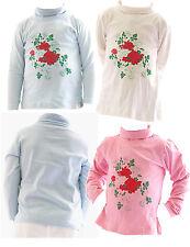 enfants filles Pull à col roulé shirt à manches longues pull roses BFL -hn-02