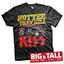 Officially Licensed KISS - Hotter Than Hell 3XL, 4XL, 5XL Men T-Shirt