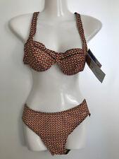 TanThru Bikini Durchbräunend Bunt Rot Gelb Gr 36 38 US 5/6 7/8 Solar Neu