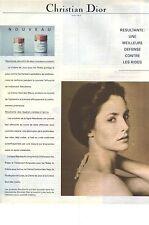 PUBLICITE  1976  DIOR cosmétiques soins de la peau