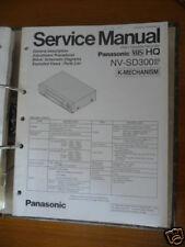 Panasonic REPARACION DE MANUAL DE SERVICIO nv-sd300 Video REC , original