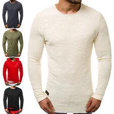 Longsleeve Classic Langarm Basic Casual Shirt Sweatshirt Herren OZONEE 10287 MIX