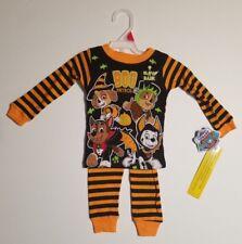 Paw Patrol Toddler 2T Pajamas Long Sleeve Halloween Glow In Dark Boys