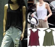 AU SELLER Women's Slouchy A-Line Singlet Tank Basic Sleeveless Top Vest T097