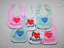 BABY BOY/GIRL ( I LOVE MUMMY , I LOVE DADDY )  BIBS