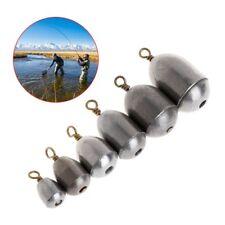 5 Pcs/Lot Fishing Sinker Lead 4/7/10/14/20/28g Weights Plummet Lure Tackle Slip
