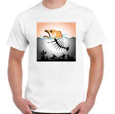 Poisson pollution Homme Environmental T-shirt politique Ocean plastique réchauffement Global