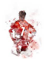 Impresión de arte ilustración de David Beckham, Manchester United, fútbol, Sport