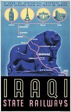 TX253 Vintage 1930's Iraq Iraqi State Railway Travel Poster Re-Print A1/A2/A3/A4