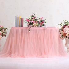 Tutu Tulle table Nappe Mariage Anniversaire décor fête baptême vaisselle Noël