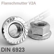 Flanschmutter Edelstahl V2A Edelstahlmutter M3-M12 mit Sperrverzahnung