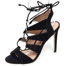 F1082 sandalo donna black STEVE MADDEN scarpe nabuk shoe woman