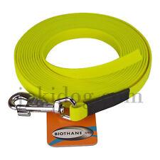 Longe plate biothane - 16 mm - 15 m - jaune - jokidog