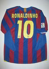 2005-2006 FC Barcelona Ronaldinho Home Jersey Trikot Maglia Kit Brazil FCB Nike