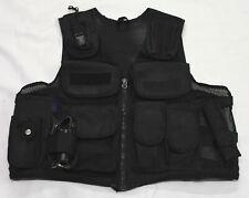 Ex Police Black Tactical Load System Tac Vest Security Dog Handler Marshal BV02