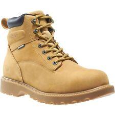 """Wolverine Boots Mens Floorhand Waterproof Steel-Toe 6"""" Work Boot Wheat"""