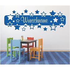 Wandtattoo Banner  Sterne Wunschtext Wunschname Wandaufkleber Name Sticker 3