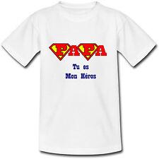 T-shirt Adulte Papa tu es mon Héros - Fête des Pères - du S au 2XL