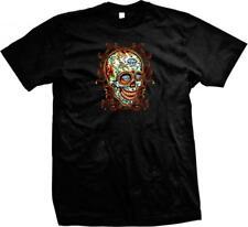 Diamond Eyes Sugar Skull Tattoos Art Dia De Los Muertos Henna Mens T-shirt