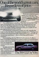 1984 Volvo 760 GLE - price -  Classic Vintage Advertisement Ad A67-B