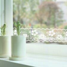 Sheer Door Window Sticker Skirting Border Floral Decor Glass Waterproof Film Sew