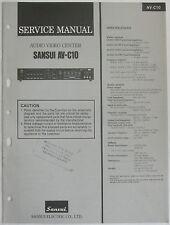 Sansui AV-C10 Audio Video Center Service Repair Manual AVC10