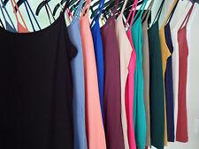 Ex M & S Ladies Womens Plus SPAGHETTI StringStrap Camisole Vest Top Uk 8-22
