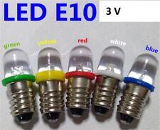 F06 / 5 Stk. E10 LED Lämpchen  in 5 Farben 3 V DC  Leuchtmittel