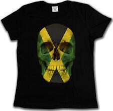 Jamaica Jamaican Skull Flag T-shirt-Teschio Bandiera Giamaica Rasta Irie T-shirt