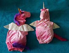 Kuscheliges 3D-EINHORN-Kostüm Rosa Pink Lila Gr. 98-104-110-116 Pferd Pony