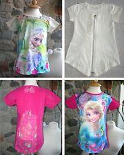Frozen - Maglia bambina Decoro Dietro T-shirt Short Sleeves Anna e Elsa TT001-2
