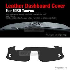 Black Leather Non Slip Dashboard Stitch Sun Pad Cover for FORD 2010-2017 Taurus