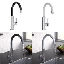 Kitchen sink mixer mono basin tap melba white black design branded product