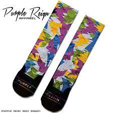 """NIKE AIR JORDAN 7 """"Bordeaux"""" Custom Premium Socks (ALL SZ) Sox Dope Odd Sneakers"""