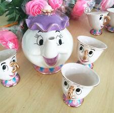 Mrs Potts Beauty And The Beast Tea Cup Cartoon Teapot Set Valentine's GIft sale