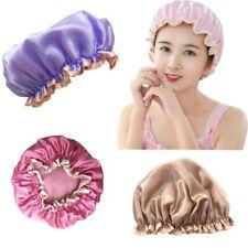 Womens Kids Girls Deluxe Shower Cap Waterproof Reusable Hair Bath Hat Cute Caps