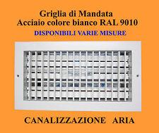 GRIGLIA DI MANDATA - BOCCHETTA ARIA CALDA PER CANALIZZAZIONE - DIFFUSORE ARIA