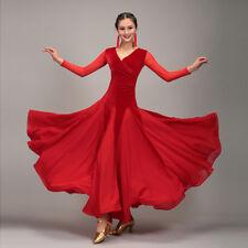 Latin Ballroom Dance Dress Modern Salsa Waltz Standard Long Dress#CB033 2 Colors