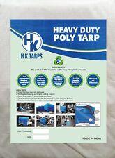 5 Mil Heavy Duty Poly Tarp 80 GSM All Purpose Canopy Reinforced Tarpaulin BlkWht