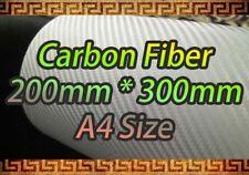 CARBON FIBER White Vinyl Sheet Sticker A4 200*300mm