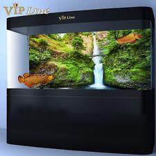 3D Waterfall Bridge Aquarium Background Poster PVC Fish Tank Decor Landscape