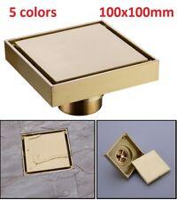 100mm X 100mm Brass Shower Drain Bathroom Floor Insert Square Anti-odor Tile New