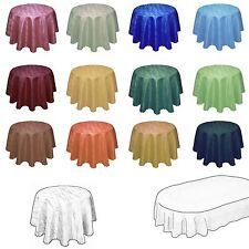 DAMAST Tischdecke in Marmor-Design RUND oder OVAL Jacquard Tafeltuch Tischtuch