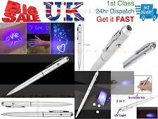 Gafas de seguridad Bolígrafo de Tinta Invisible Luz UV Marcador mensaje secreto Bolsa Fiesta
