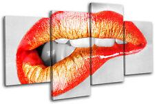 Biting Lips Erotic Fashion MULTI LONA pared arte Foto impresion