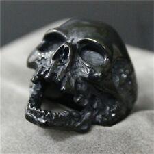 Piraten Totenkopf Ring - Horror Skull Schädel - Schwarz Silber - Gr. 7-15