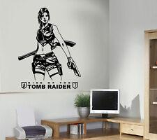 Tomb Raider Lara Croft Wall Art Sticker/Decal PS4 XBOX Home Decoration Gift