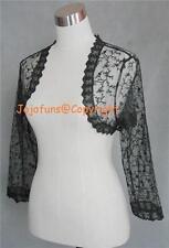 BLACK LACE SHRUG/BOLERO/CAPE/WRAP,3/4 Sleeve, Size 8-22
