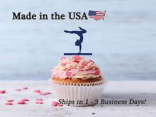 Gymnastics Cupcake Toppers, Acrylic, Female Gymnast Decor, Birthday, LCT1026