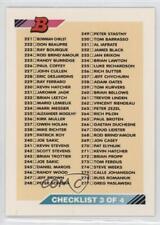1992-93 Bowman #330 Checklist Hockey Card